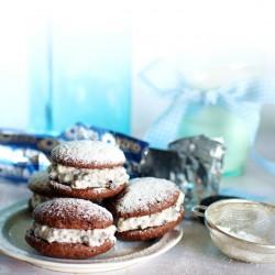 Cookies and cream whoopie pies