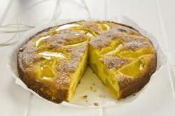 Cytrynowe Ciasto z Brzoskwiniami