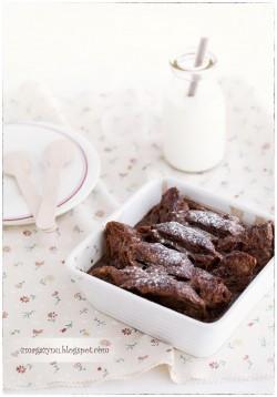 Czekoladowy pudding z croissantów i nutelli