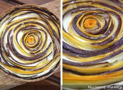 Quiche z bakłażanem i cukinią na orzechowym spodzie