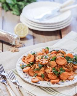 Salatka z marchewkami soczewica