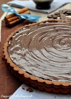 Tarta z masą karmelową i czekoladowym ganache