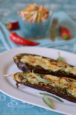 Bakłażany zapiekane z ziołami i mozzarellą