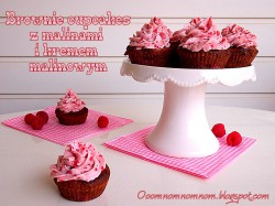 Brownie Cupcakes z malinami i kremem malinowym – zdecydowanie najlepsze czekoladowe babeczki!