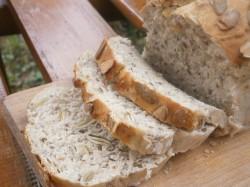 Chleb mieszany z dynią i siemieniem lnianym