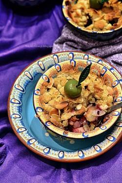 Crumble jabłkowo śliwkowe na deser