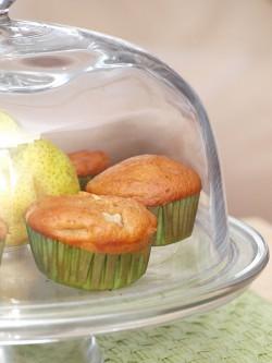 Cynamonowe muffiny z gruszką