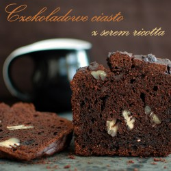 czekoladowe ciasto z ricottą