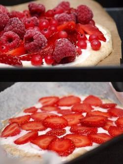 Drożdżowa pizza na słodko