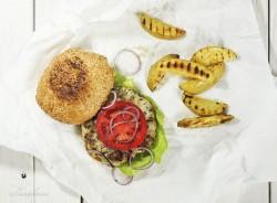Fishburger ze świeżego dorsza z dodatkiem kaparów