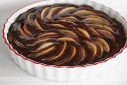 Gruszki w czekoladzie z migdałami