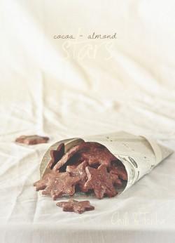 Gwiazdki kakaowo � migdałowe