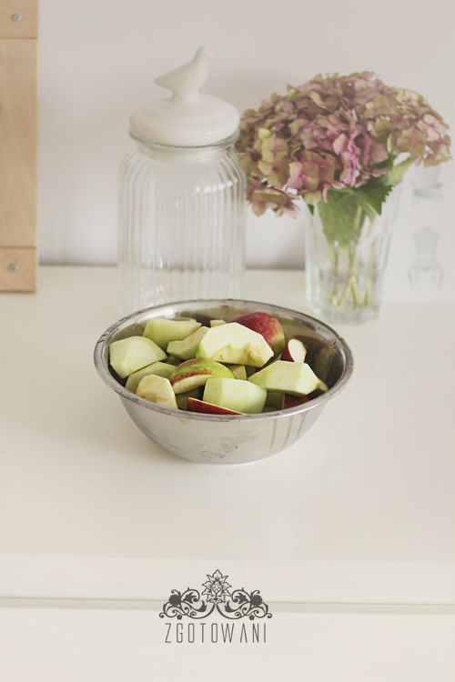 kompot z jablek i winogron