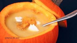KREM DYNIOWY Z KARMELIZOWANĄ POMARAŃCZĄ – bajka o kopciuszku pumpkin soup with caramelised orange