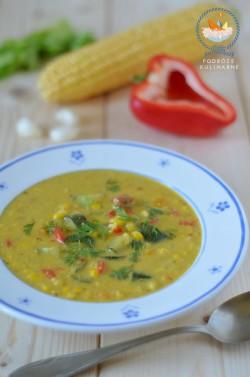 Kukurydziany chowder z curry