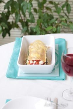 lasagne z cukinią i pomidorami
