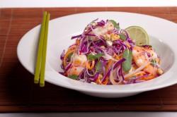 Makaron ryżowy i krewetki
