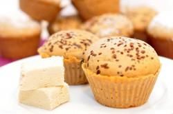 Muffinki kawowe z chałwą