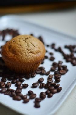 Muffinki kawowo-bananowe z chałwowym wnętrzem