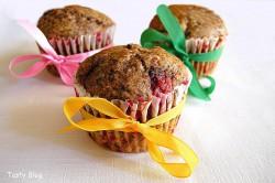 Muffinki ze śliwkami i gorzką czekoladą