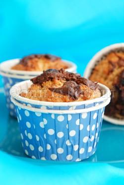 Muffiny orzechowe z Nutellą