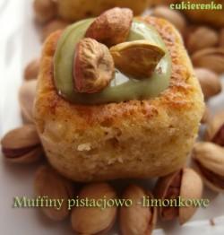 Muffiny pistacjowo – limonkowe