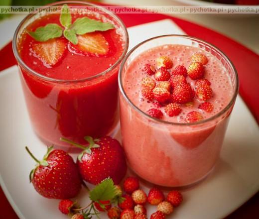 Napój mleczno-truskawkowy