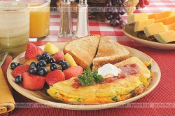 Omlet owocowy