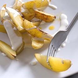 Pieczone ziemniaki z miodem i tabasco