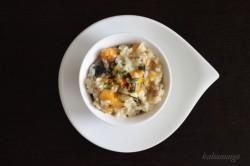 risotto dyniowe z bakłażanem