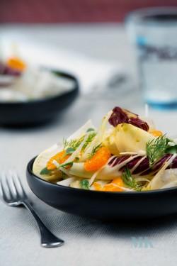 Salatka walentynkowa-mandarynki, fenkul, cykoria