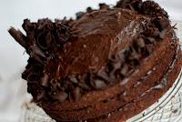 Tort w pełni czekoladowy