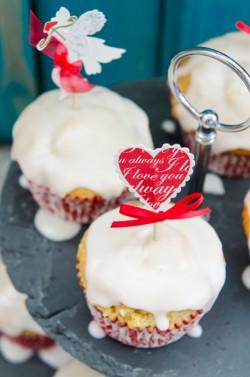 Walentynkowe muffinki żurawinowe