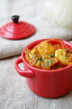 wegetariańskie curry z bakłażana