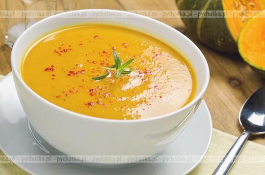 Zupa z dyni z makaronem na mleku