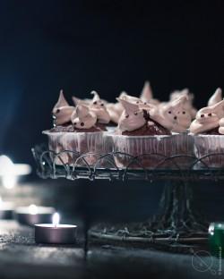 Bezy z muffinami gryczanymi halloween