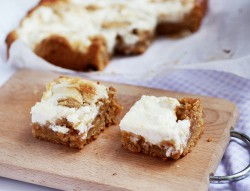 blondies z masłem orzechowym i serem peanut butter cream cheese blondeies