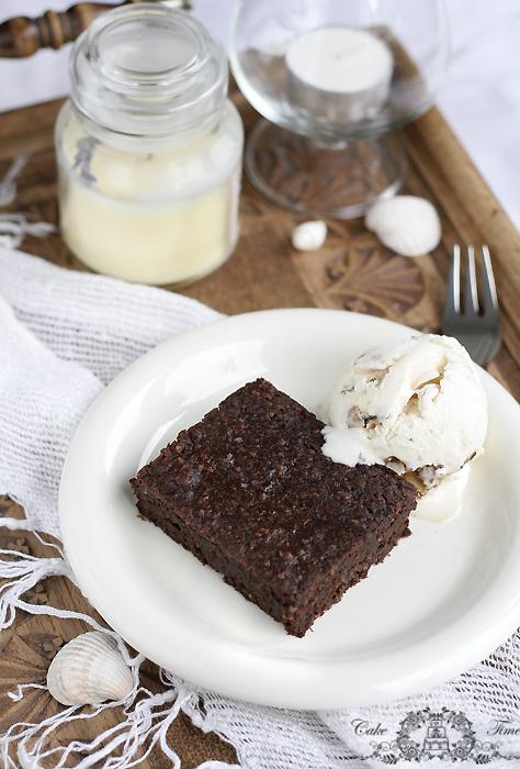 brownies bez tłuszczu i mąki
