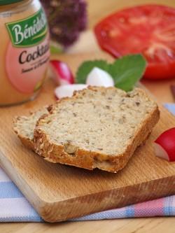 Chleb półrazowy, bez wyrabiania i wyrastania