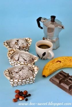 Chlebek bananowy czekoladowo-kawowy