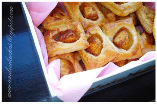 Ciasteczka francuskie z jabłkiem i cynamonem