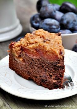 ciasto ze sliwkami i kruszonka