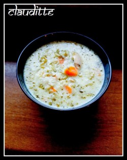 Zabielona zupa ogórkowa