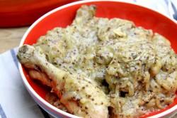Kurczak w sosie winno – musztardowym