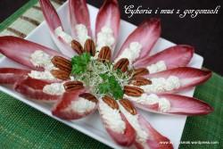 cykoria i mus z gorgonzoli