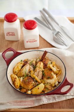 Cytrynowy kurczak z ziemniakami i cynamonem