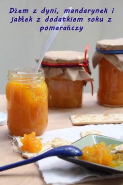 Dżem z dyni, mandarynek i jabłek z sokiem pomarańczowym