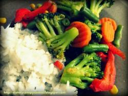 Mrożone warzywa z patelni