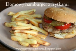 Domowy hamburger z frytkami