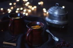 Herbata z pomarańczą, żurawiną i gożdzikami
